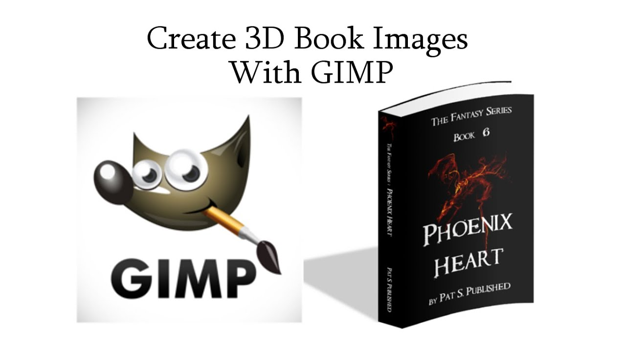 Book Cover Design Gimp : Tutorial create d book images with gimp youtube
