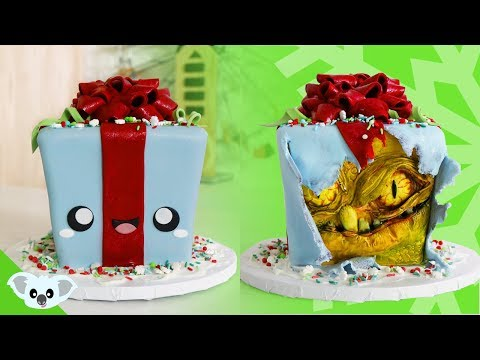 2 Faced GIFT CAKE | Cute and Scary Christmas Ideas| Amazing Cakes | Koalipops