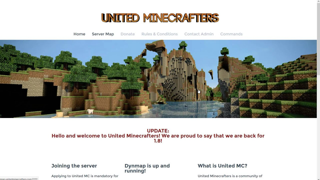 United Minecrafters Server!! 1 8 | Dynmap | mcMMO | AntiGrief | ChopTree