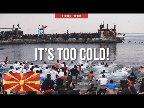 Would You Swim In Lake Ohrid In Wintertime? 🇲🇰 | Orthodox Epiphany Day
