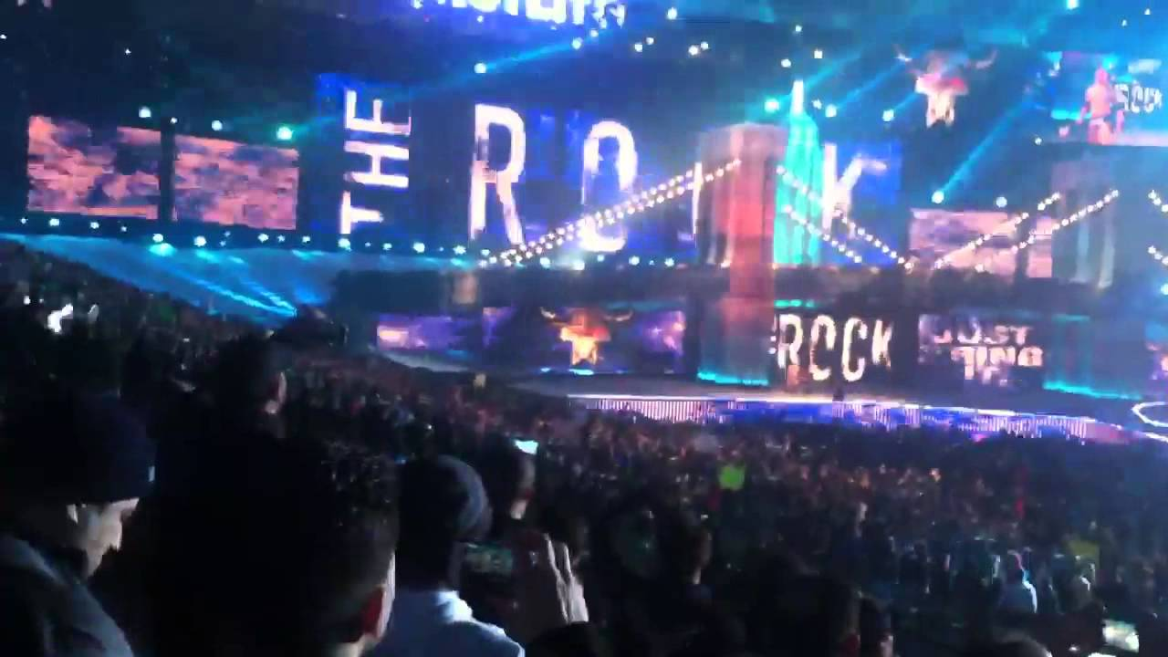 The rock entrance at wrestlemania 29 live youtube for Mercedes benz superdome wrestlemania 30