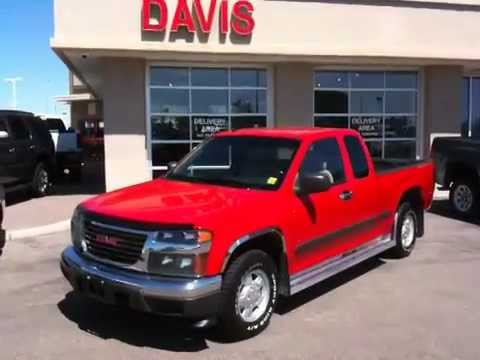 used 2006 gmc canyon for sale in lethbridge sold sle extended cab 2wd davis gmc buick. Black Bedroom Furniture Sets. Home Design Ideas