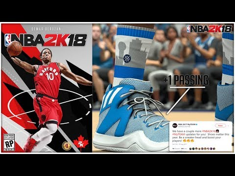 NBA 2K18 SHOES GIVES MYPLAYER +1 BOOST TO ATTRIBUTES!| NEW SHOES w/ BOOST  FOR MYPARK!! #NBA2K18