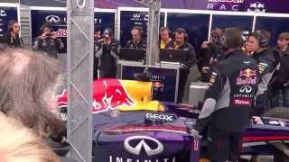 démo bruit v8 F1 Red Bull Renault WSR 2013 Spa  Rs Haute Normandie