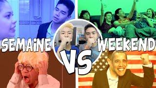 SEMAINE VS WEEKEND - LE RIRE JAUNE