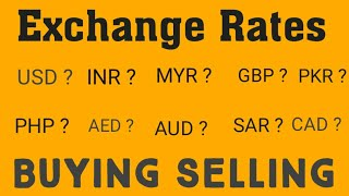 Today Money exchange rate in Pakistan||New Rates ||Foreign exchange