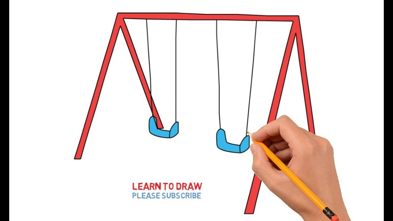 How To Draw A Swing Set Step By Step Very Simple