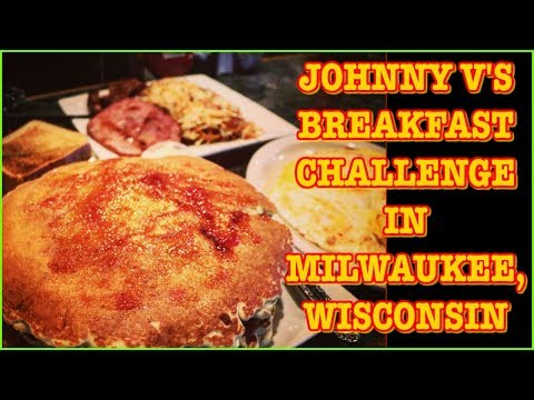 Classic Breakfast Challenge W/ Pancakes, Bacon, & Eggs!! - Milwaukee, WI #RainaisCrazy