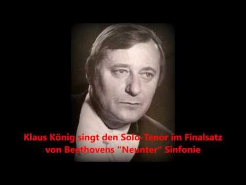 """Klaus König singt in Beethovens """"Neunter Sinfonie"""" (1985 live)"""