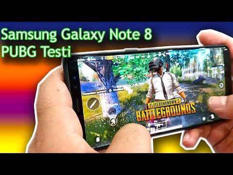 Galaxy Note 8 PUBG testi