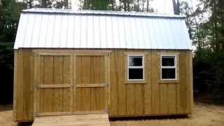 12x20 Barn(gambrel) Shed 2 - Shed Plans - Stout Sheds Llc