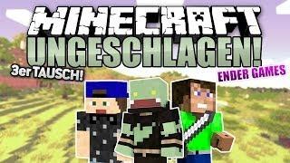 3er TAUSCH mit LACHFLASH! - Minecraft UNGESCHLAGEN #18 - Ender Games | ungespielt