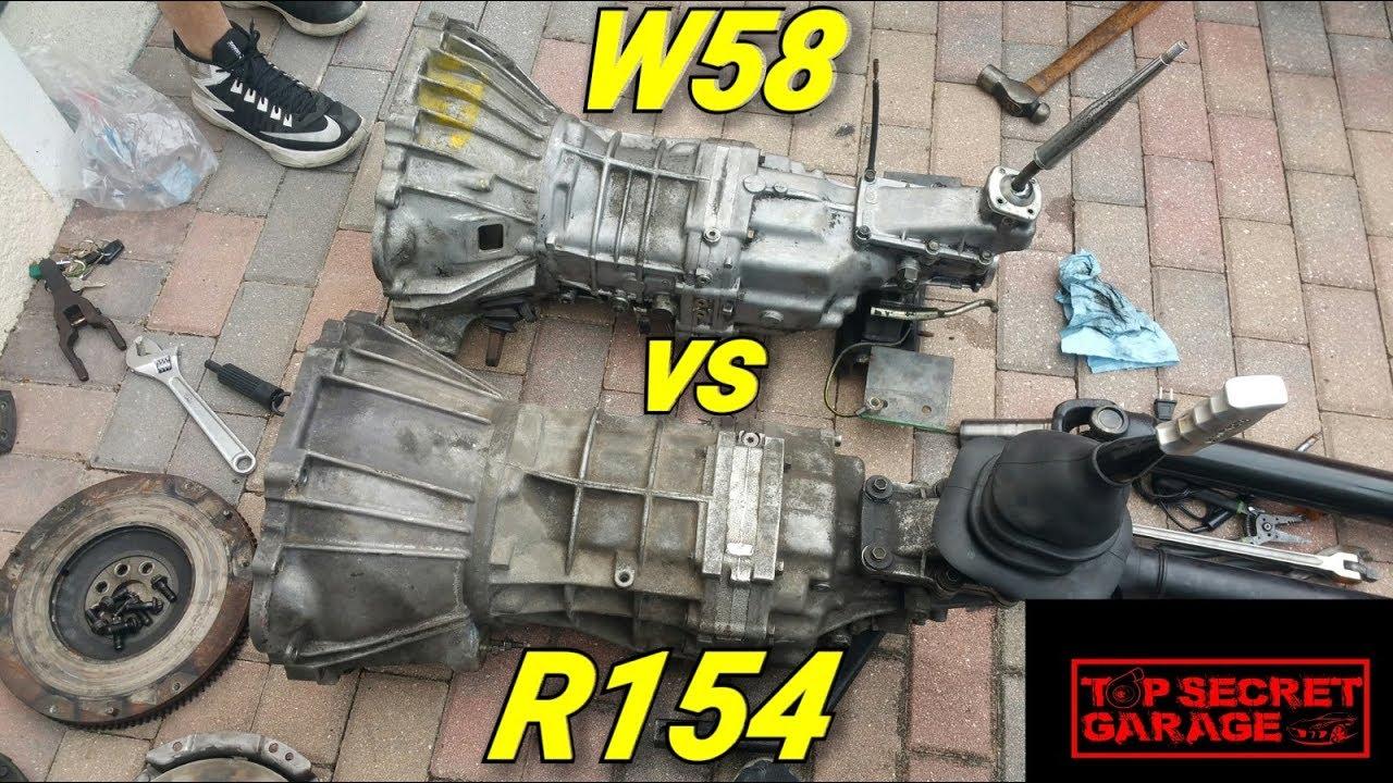 TOYOTA W58 VS R154 TRANSMISSION COMPARISON