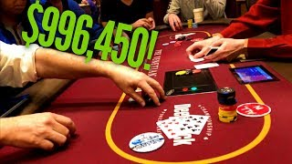 Gambling for almost ONE MILLION Dollars at The Venetian!