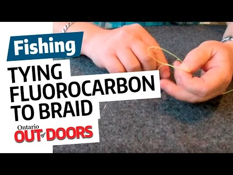 Tying Fluorocarbon To Braided Line Youtube