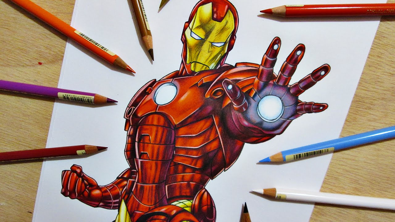 Speed Drawing Iron Man Marvel Comics YouTube