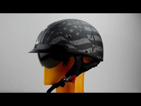 Vega Warrior 360° View 7817-05 Patriotic Flag - Half Helmet