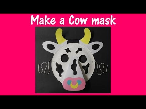 Arts And Crafts How To Make A Cow Mask Youtube