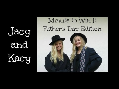 Minute to Win It Challenge ~ Father's Day Edition ~ Jacy and Kacy