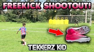 MY FIRST EVER NIKE SOCK BOOTS!! | FREE KICK SHOOTOUT!!