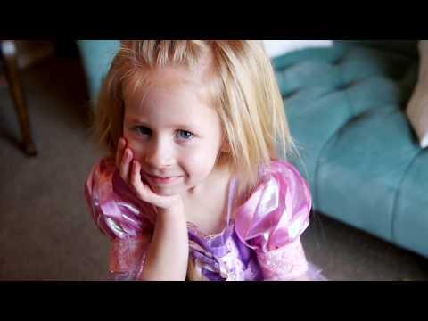 Daisy's 4th Birthday!!  Disney Princess Birthday Rapunzel #Flashback