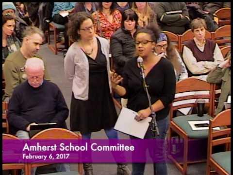 Amherst School Commitee 2-6-17