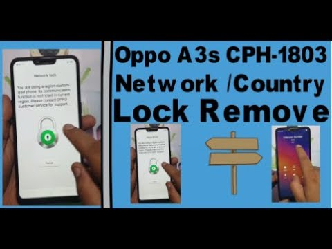 Oppo A3s CPH-1803 Network /Country Unlock.