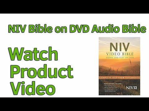 NIV Audio Bible on DVD read and listen to the Bible together