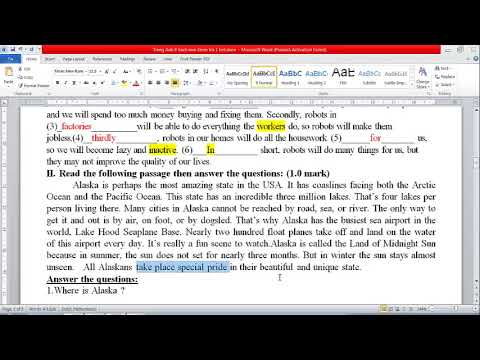 Giải đề Kiểm Tra 45 Phút Lần 1 Kì 2 || Tiếng Anh Lớp 8 Thí Điểm (Đề 1)
