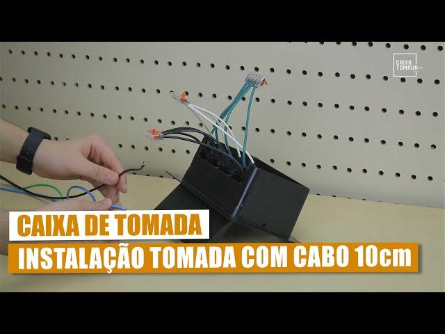 Instalação Elétrica na Caixa de Tomada - com cabo 10cm