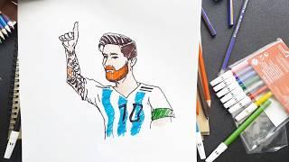 Çok Kolay! Lİonel Messi Nasıl çizilir? /adım Adım /how To Draw Lionel Messi