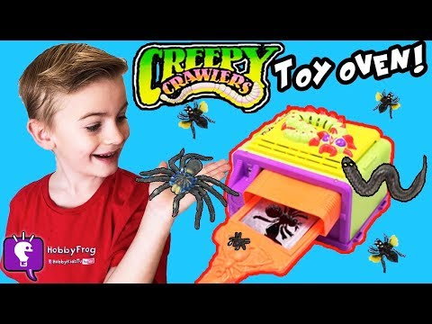 Make BUGS and COOK Creepy Crawlers Kit! Smash and Grind + Giant Tarantula Spider Scare HobbyKidsTV