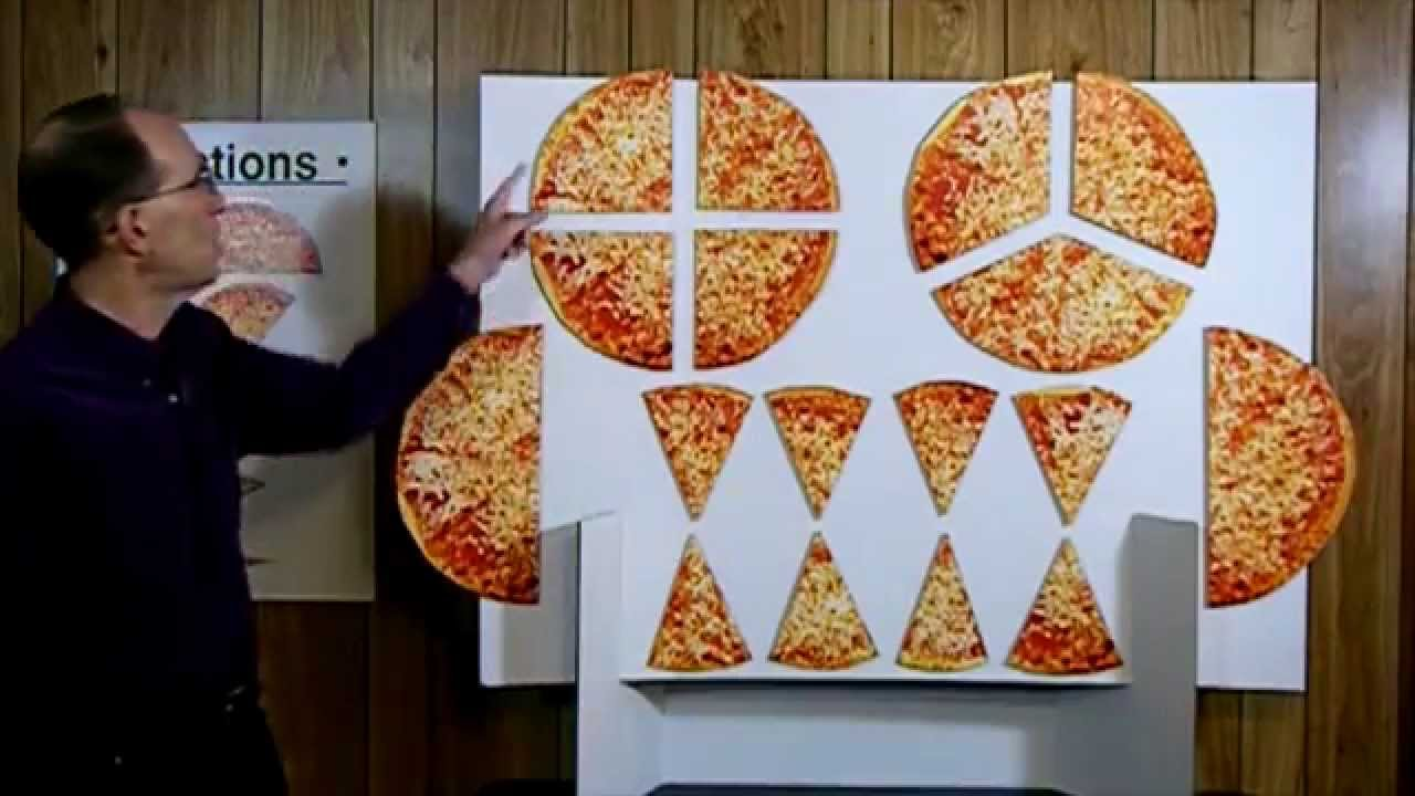 rick goldin - teaching fractions to children using pizza slices