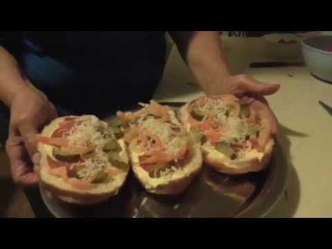 Salami cucumber sandwich