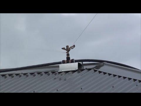 Sprinklers on roof against wildfire / bushfire