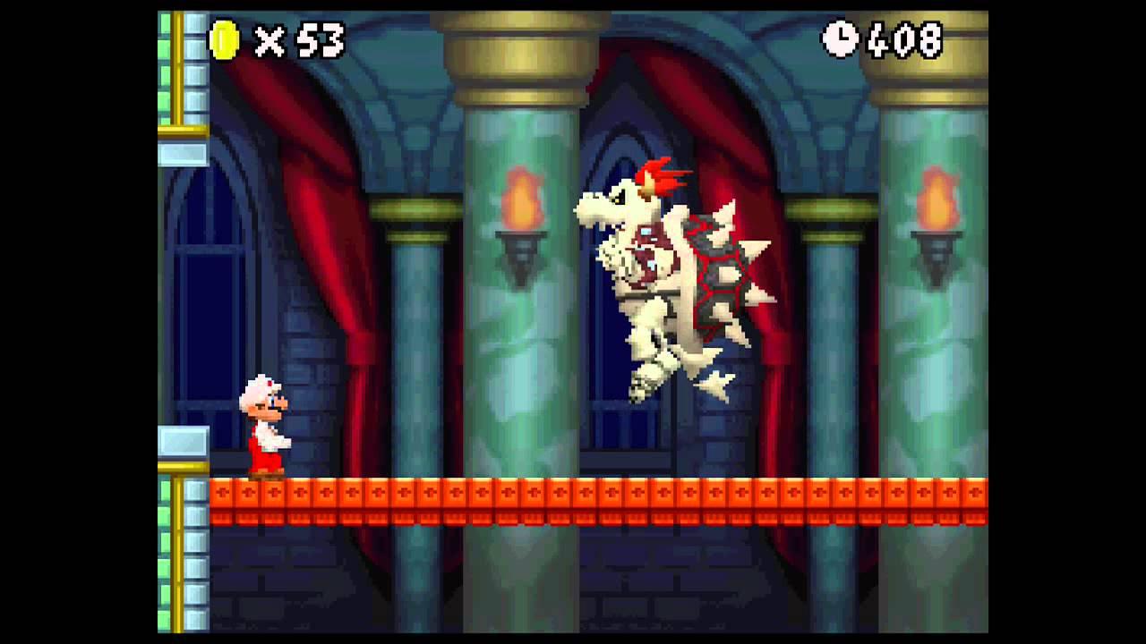 New Super Mario Bros Boss 8 Dry Bowser Youtube