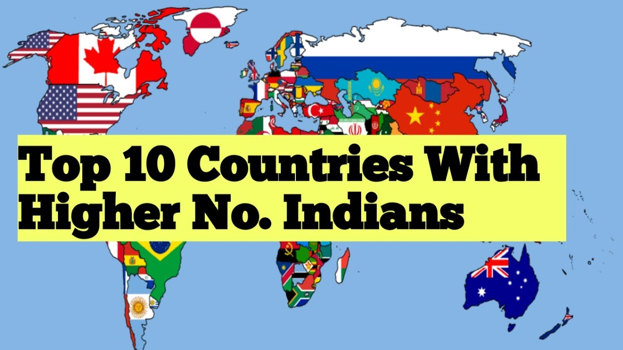 Top 10 Countries with the largest Indian Populations 2020 in Hindi