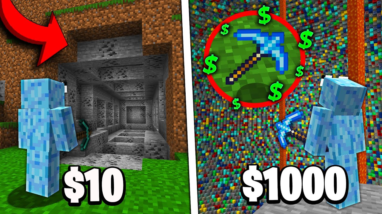 $10 VS $1000 PICKAXE!   Minecraft Prisons