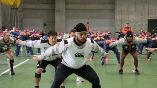 【千葉県市原市】千葉県消防学校とサンウルブズ 合同トレーニングを実施