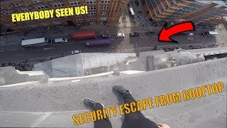 SECURITY ESCAPE FROM ROOFTOP SECURITY!