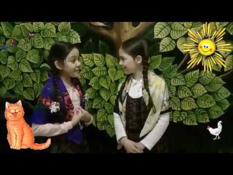 Изображение предпросмотра прочтения – «Подружки» читают произведение «Небылица в лицах» (Русский фольклор )