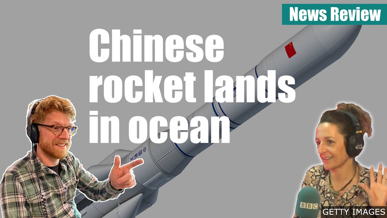 China Rocket lands in ocean - BBC News Review