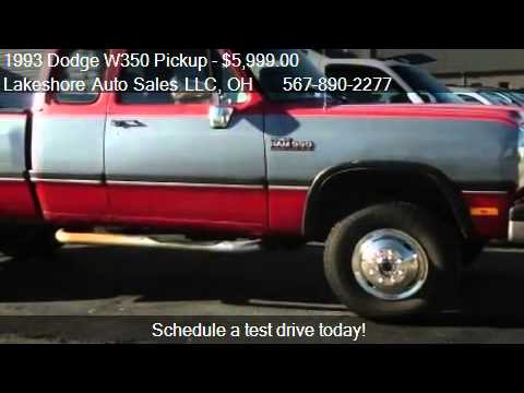 1993 Dodge W350 Pickup Club Cab 8-ft. Bed 4WD - for sale in