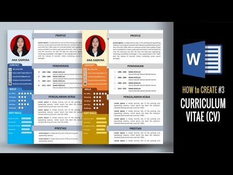 Cara Kreatif Membuat Cv Di Ms Word