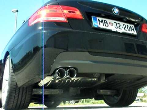 bmw performance exhaust 325i e92 youtube. Black Bedroom Furniture Sets. Home Design Ideas