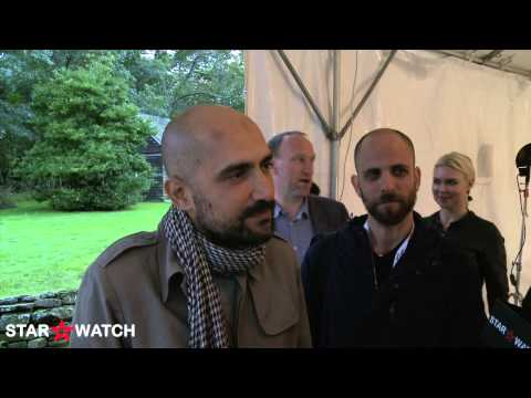 Shlomi Elkabetz and Yuval Aharoni red carpet interview at 2014 Hamptons International Film Festival