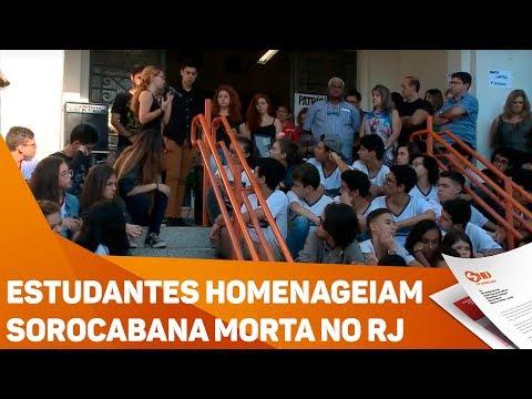 Estudantes homenageiam Sorocabana Morta no RJ - TV SOROCABA/SBT