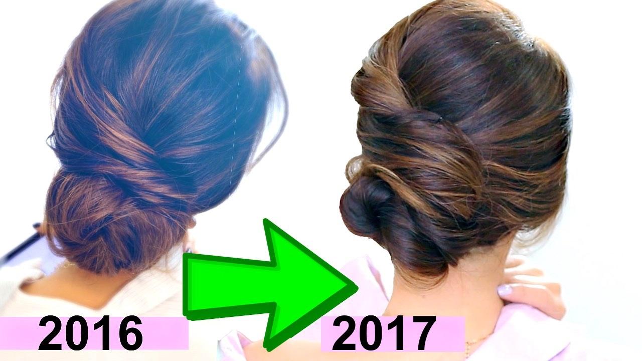 """top 3 """"easy elegant bun"""" hairstyles"""