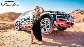 Erste Fahrt im Audi e-tron | Vollelektrisch durch die Wüste!