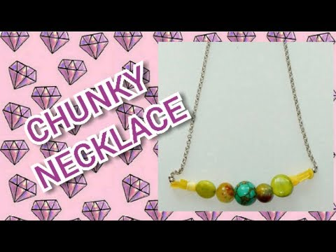 DIY Chunky Necklace | Using Metal Chain